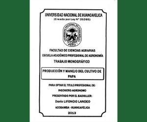 Tesis: Producción y manejo del cultivo de papa
