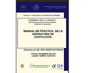 Manual de Practicas de EDAFOLOGIA